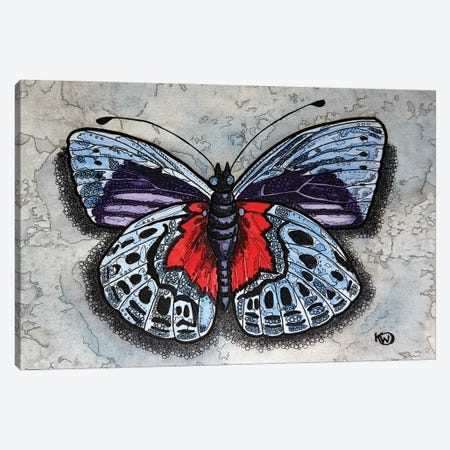 Blue/Red Butterfly Canvas Print #KMW30} by Kim Winberry Canvas Art Print