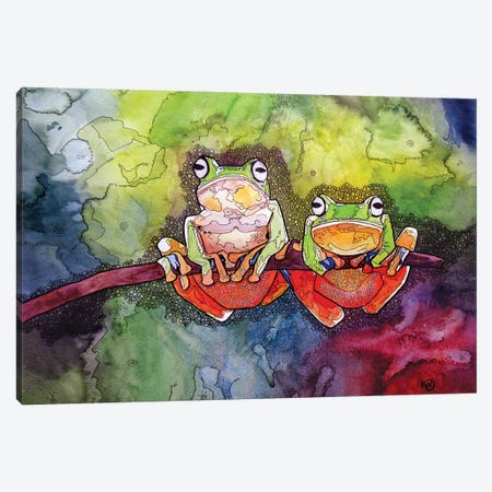 Two Of A Kind Canvas Print #KMW33} by Kim Winberry Art Print