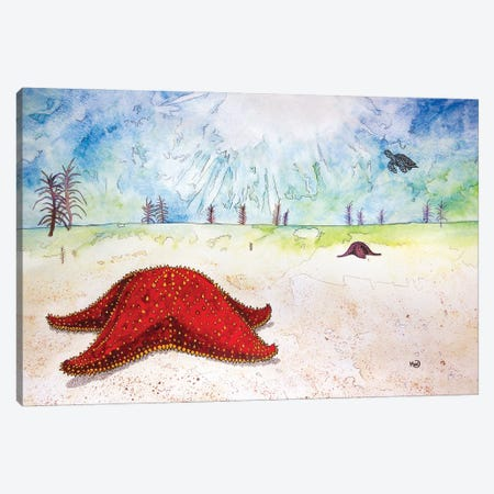 Starfish Canvas Print #KMW34} by Kim Winberry Canvas Art