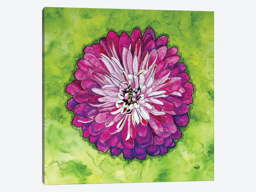 Pink Dahlia by Kim Winberry 1-piece Canvas Artwork