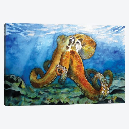 Bottom Of The Sea Canvas Print #KMW44} by Kim Winberry Art Print