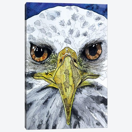 Eagle Eyes Canvas Print #KMW48} by Kim Winberry Canvas Art