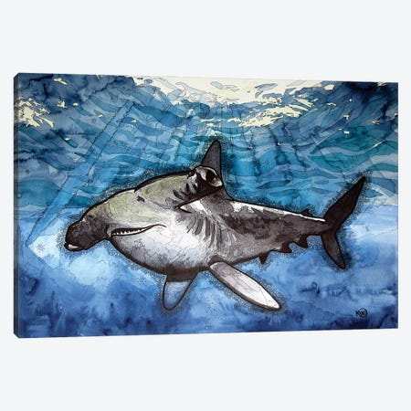 Hammerhead Shark Canvas Print #KMW50} by Kim Winberry Art Print