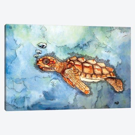 Bubbles II Canvas Print #KMW64} by Kim Winberry Canvas Art Print