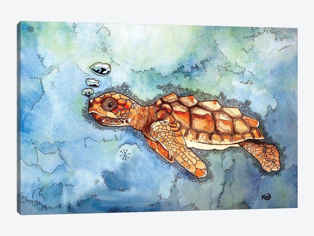 Bubbles II by Kim Winberry 1-piece Canvas Art Print