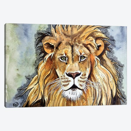 Lion II Canvas Print #KMW76} by Kim Winberry Canvas Art