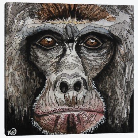 Gorilla II Canvas Print #KMW78} by Kim Winberry Canvas Art Print