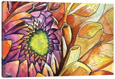 Golden Dahlia Canvas Art Print