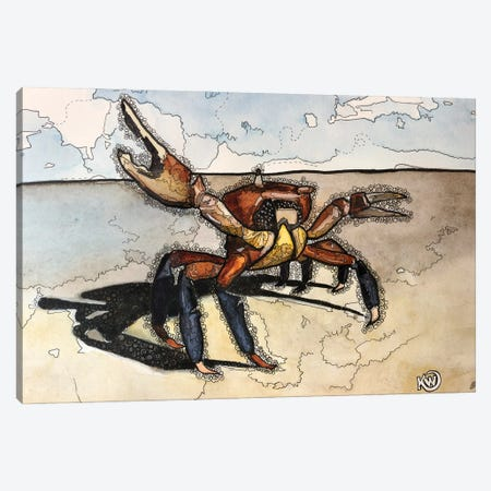 Crabby Canvas Print #KMW89} by Kim Winberry Canvas Wall Art