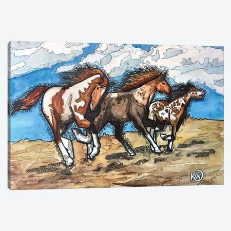 Wild Trio Canvas Print #KMW92} by Kim Winberry Canvas Print