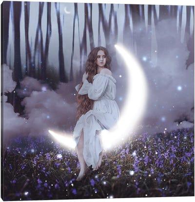 Forest Moon Goddess Canvas Art Print