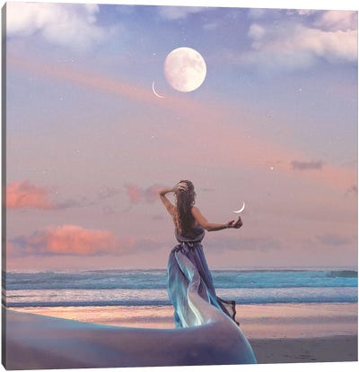 Full Moon In Pisces Canvas Art Print