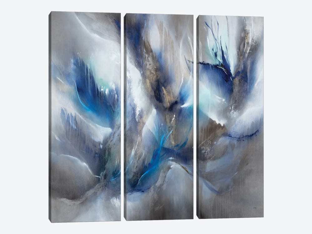 Blue Orchids by K. Nari 3-piece Canvas Print