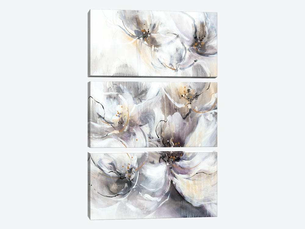 Pearlescent Blooms by K. Nari 3-piece Canvas Art Print