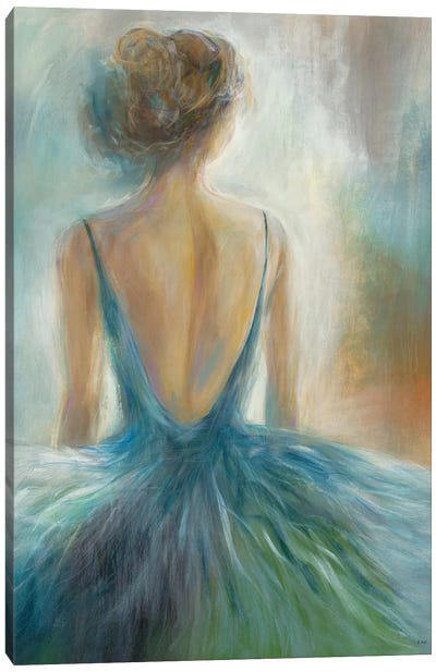 Lady in Blue Canvas Art Print