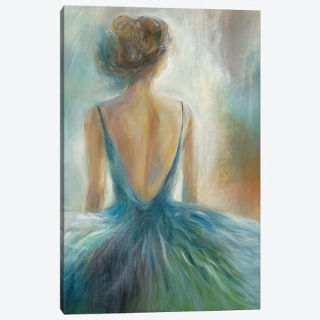 Lady in Blue Canvas Print #KNA7} by K. Nari Canvas Wall Art