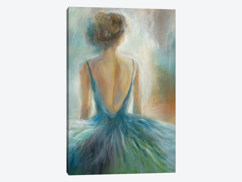 Lady in Blue by K. Nari 1-piece Canvas Art Print
