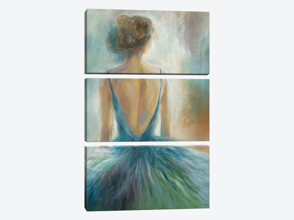 Lady in Blue by K. Nari 3-piece Canvas Print