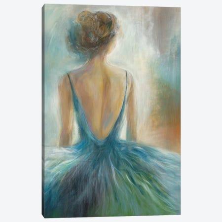 Lady in Blue Canvas Print #KNA9} by K. Nari Art Print