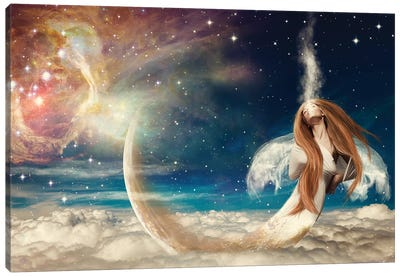 Celestial Parting Canvas Art Print