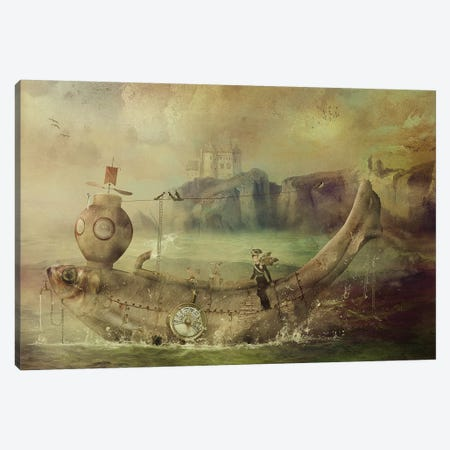Full Steam Ahead Canvas Print #KNB20} by Kinga Britschgi Canvas Print
