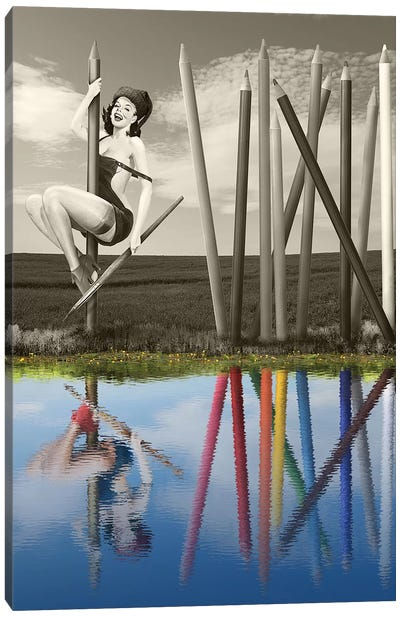 Image And Reflection Canvas Art Print