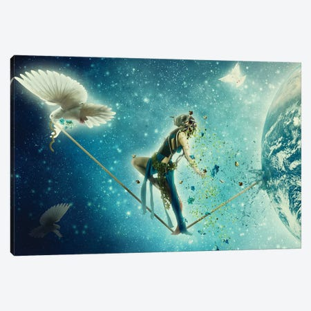 Leaving Earth Canvas Print #KNB26} by Kinga Britschgi Canvas Wall Art