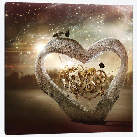 My Clockwork Heart Canvas Print #KNB34} by Kinga Britschgi Art Print