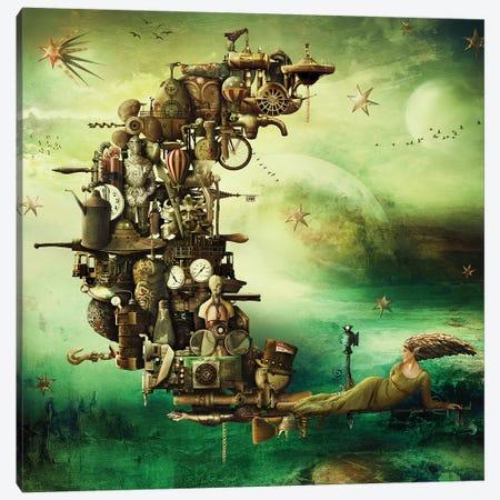 New Moon Rises Canvas Print #KNB36} by Kinga Britschgi Canvas Art Print