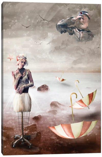 Red Star Fairy Canvas Art Print