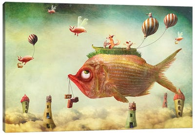 The Fish Piglivery Service Canvas Art Print