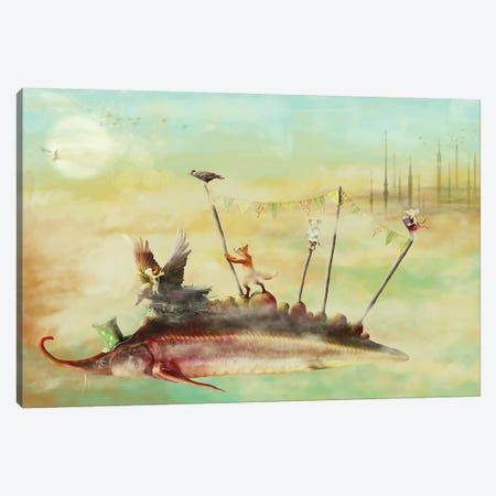 The Travellers Canvas Print #KNB51} by Kinga Britschgi Canvas Art