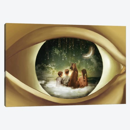 As If By Magic We See 3-Piece Canvas #KNB6} by Kinga Britschgi Art Print