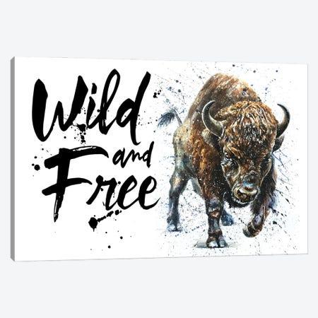 Buffalo Wild & Free II Canvas Print #KNK10} by Konstantin Kalinin Art Print