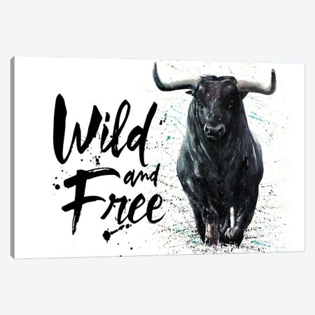 Buffalo Wild & Free Canvas Print #KNK11} by Konstantin Kalinin Canvas Print