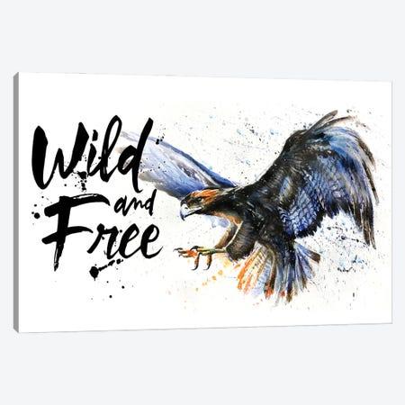 Eagle Wild And Free Canvas Print #KNK14} by Konstantin Kalinin Canvas Art