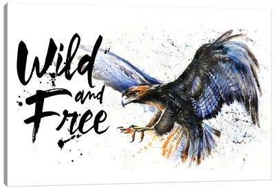 Eagle Wild And Free Canvas Art Print