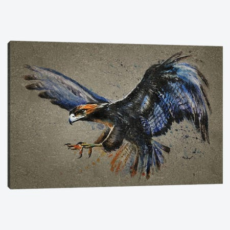 Eagle Bg Canvas Print #KNK15} by Konstantin Kalinin Canvas Artwork