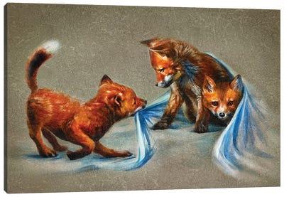 Fox Kids II Canvas Art Print