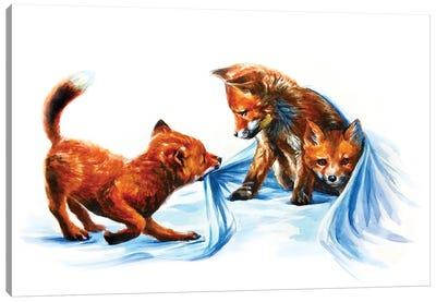 Fox Kids III Canvas Art Print