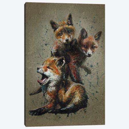 Fox Kids Canvas Print #KNK20} by Konstantin Kalinin Canvas Art