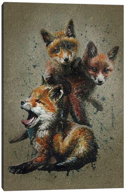 Fox Kids Canvas Art Print