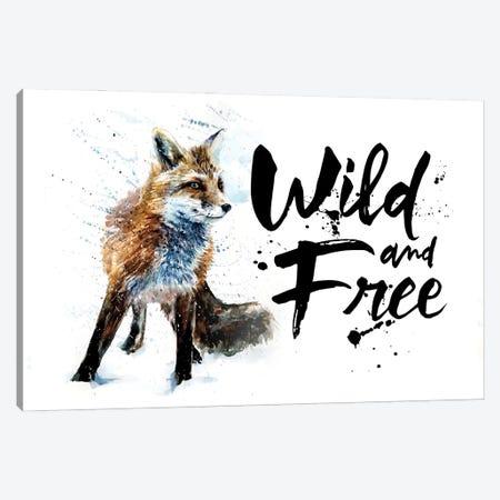 Fox Wild & Free Canvas Print #KNK21} by Konstantin Kalinin Canvas Artwork