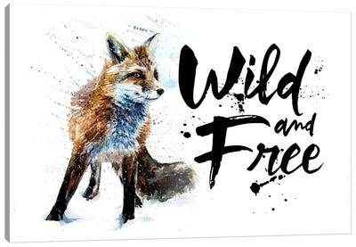 Fox Wild & Free Canvas Art Print