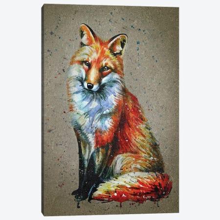 Fox Canvas Print #KNK22} by Konstantin Kalinin Canvas Art