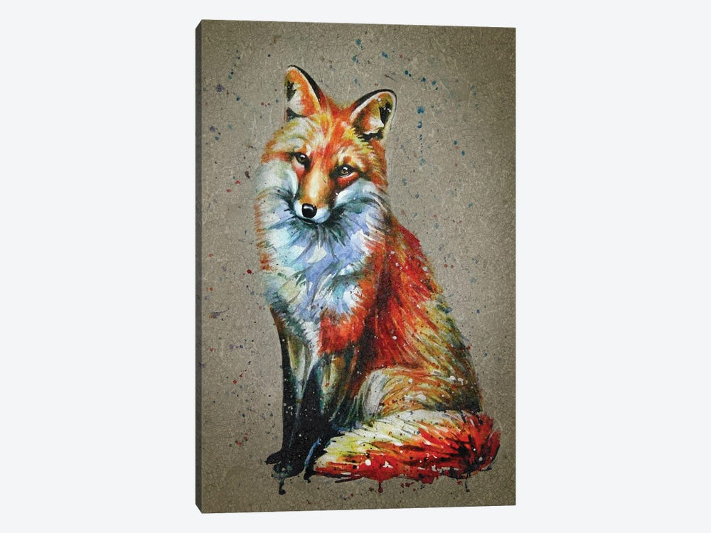 Fox by Konstantin Kalinin 1-piece Canvas Artwork