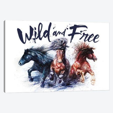 Horses Wild And Free Canvas Print #KNK24} by Konstantin Kalinin Canvas Print