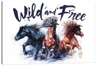Horses Wild And Free Canvas Art Print