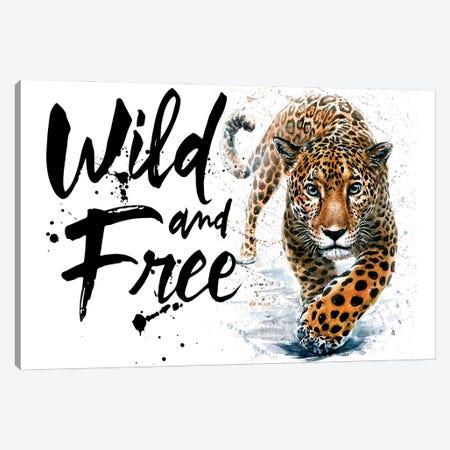 Leopard Wild And Free Canvas Print #KNK27} by Konstantin Kalinin Canvas Print