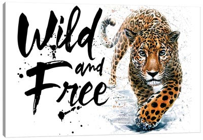Leopard Wild And Free Canvas Art Print